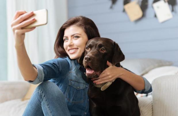 Selfie con perro