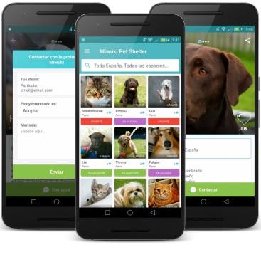 Miwuki, plataforma para adoptar perros y gatos