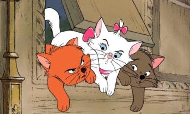 Peliculas de animales, peliculas de gatos. Los aristogatos