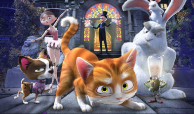 Peliculas de animales, peliculas de gatos. Trueno y la casa mágica
